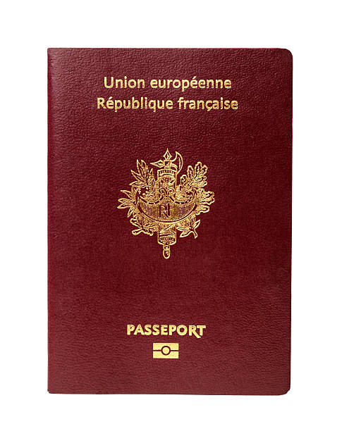 French Passport French passport isolated on white background. french culture stock pictures, royalty-free photos & images