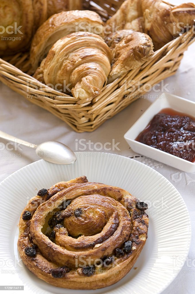 French pastries stock photo