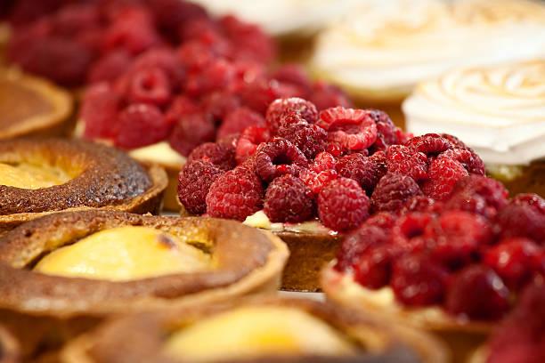 Pasteles franceses en primer plano - foto de stock