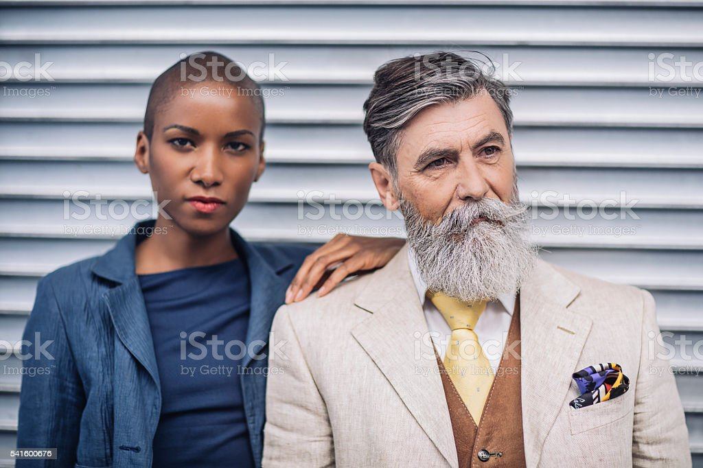 French People stock photo