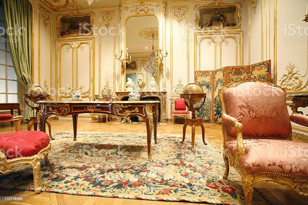 French period room stock photo