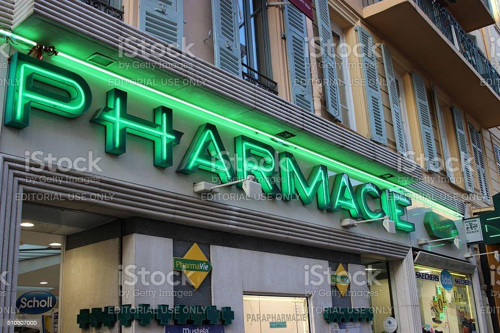 French Pharmacy stock photo