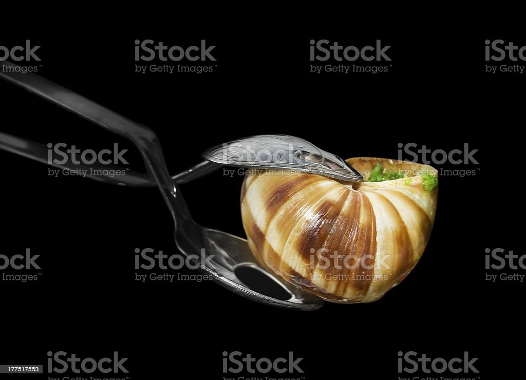 French pincers for escargot royalty-free stock photo
