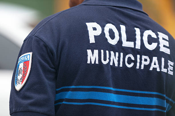 French police officer stock photo