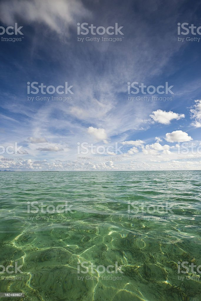 French Polynesia Ocean and Skyscape royalty-free stock photo