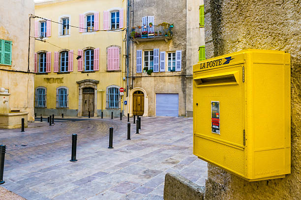 French Postbox stock photo