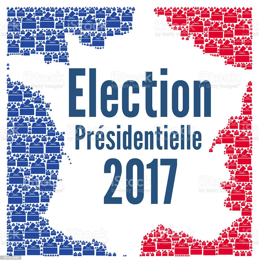 French presidential election 2017 stock photo