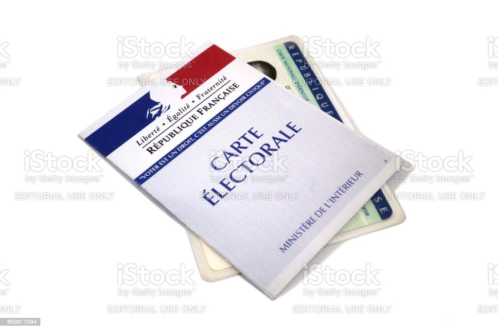 French presidential elections stock photo
