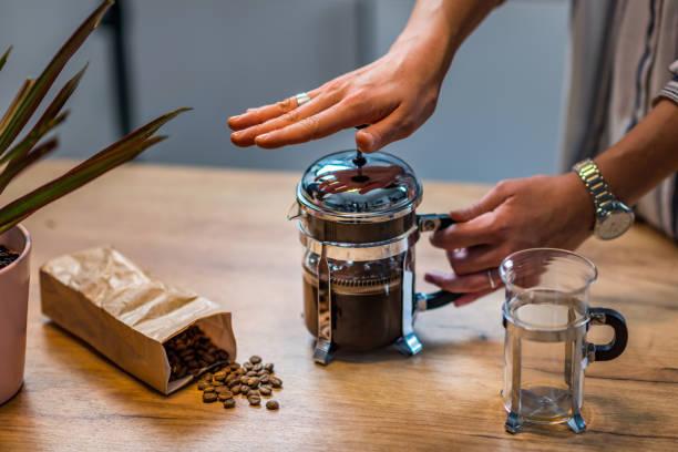 Französischer Pressekaffee – Foto