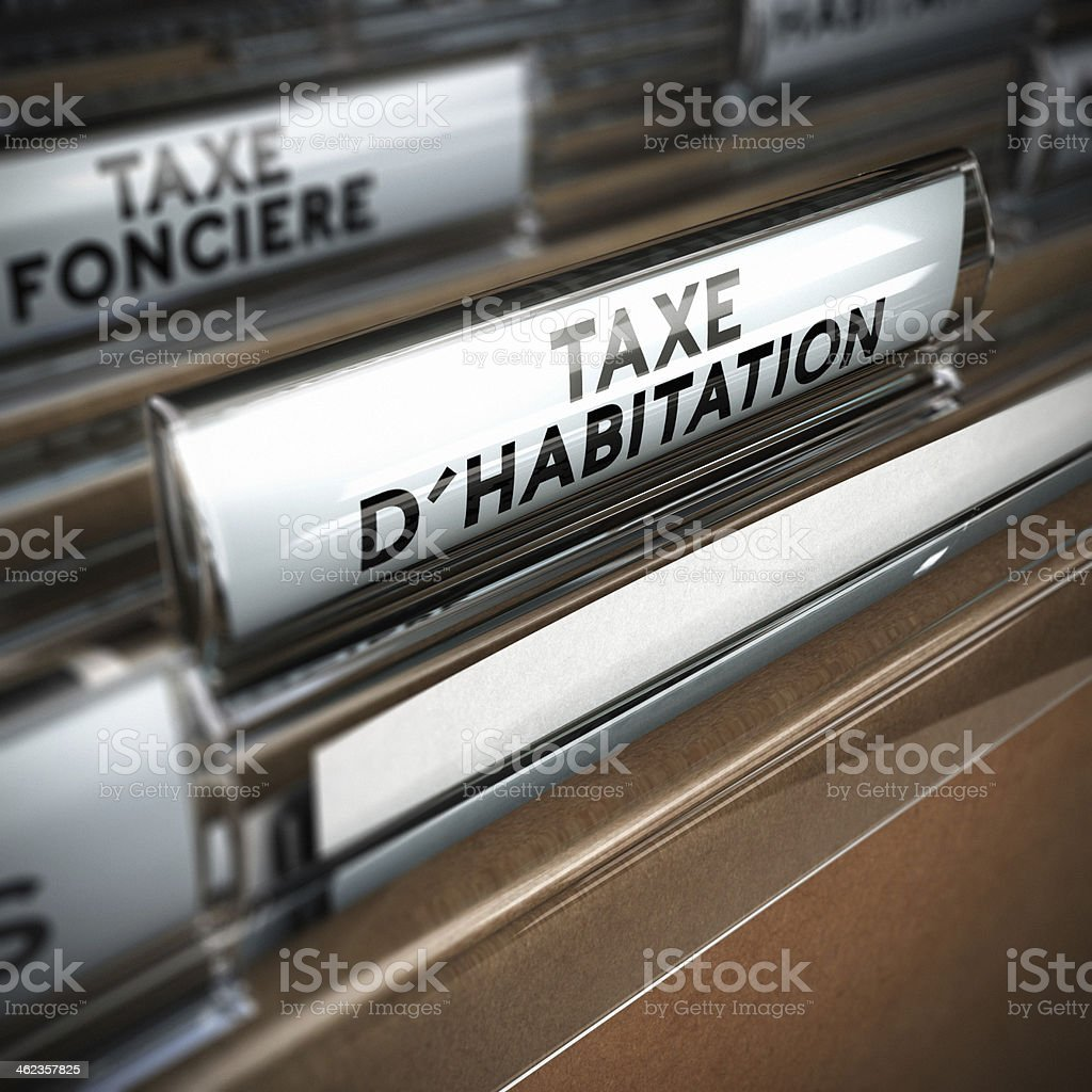 French Property Tax stock photo