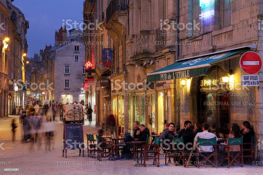 French pub, Besancon stock photo