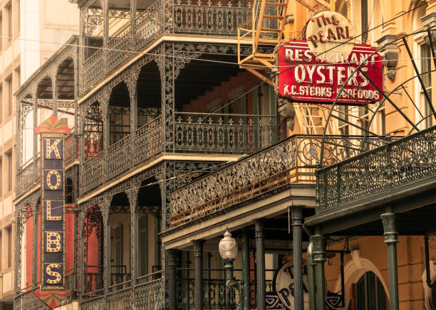 French Quarter architecture in new Orleans Louisiana USA stock photo