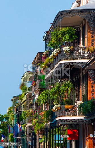 istock French Quarter Buildings with Garden Terraces 579129220