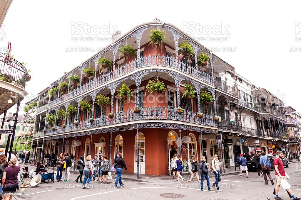 French Quarter in New Orleans, Louisiana stock photo