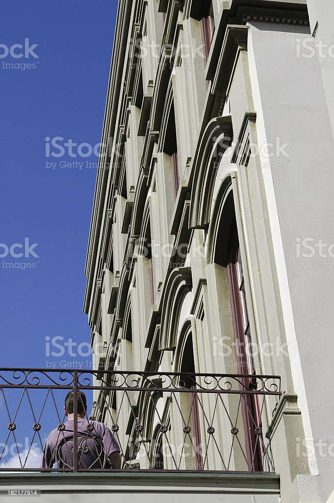 French Quarter Morning Coffee royalty-free stock photo