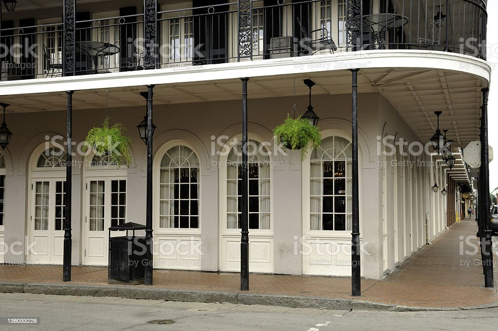 French Quarter New Orleans Building stock photo