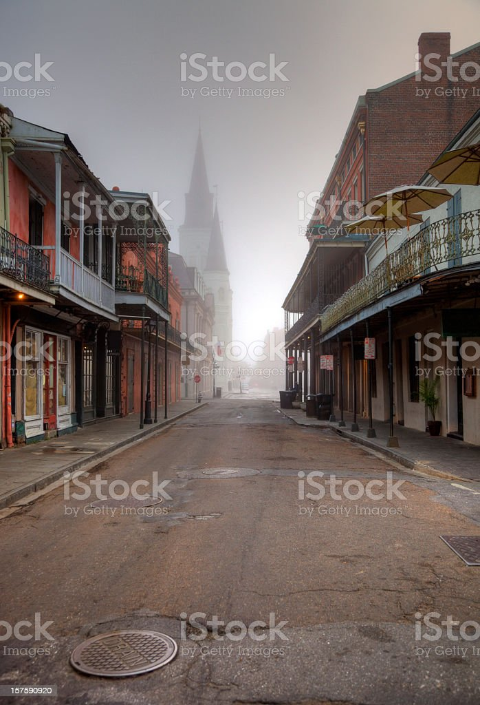 French Quarter New Orleans stock photo