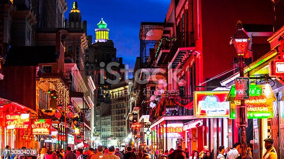 French Quarter nightlife. New Orleans, Louisiana, USA