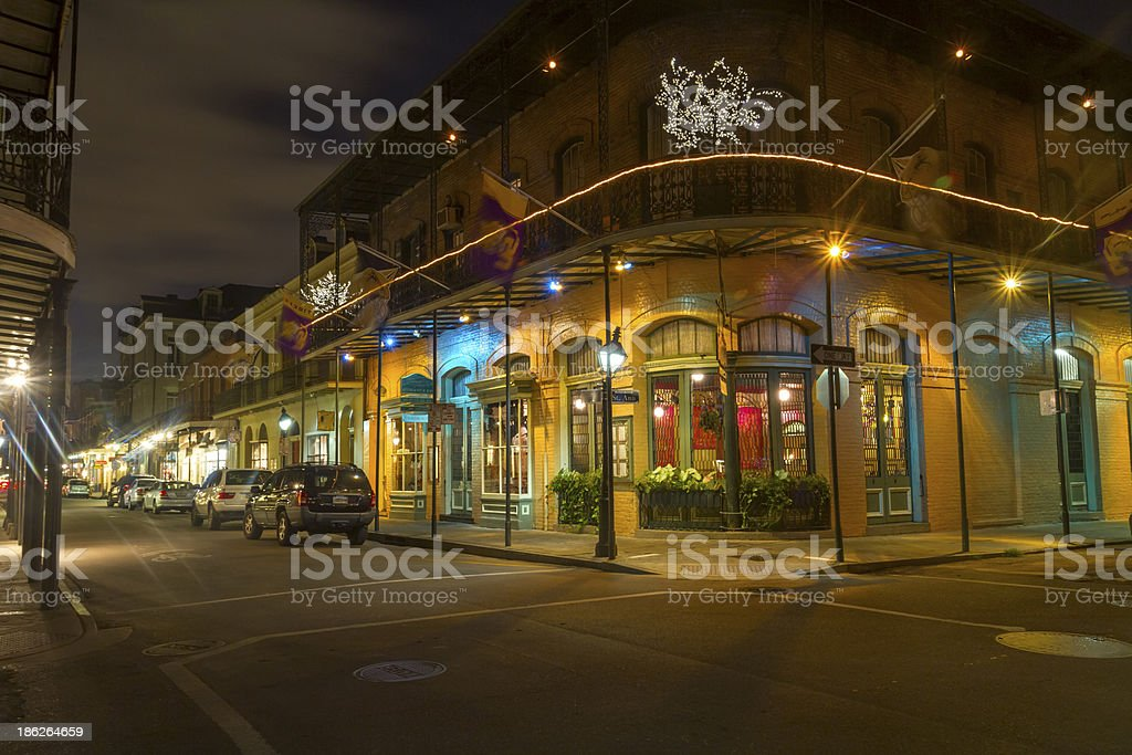 French Quarter The French Quarter, also known as the Vieux Carr Architecture Stock Photo