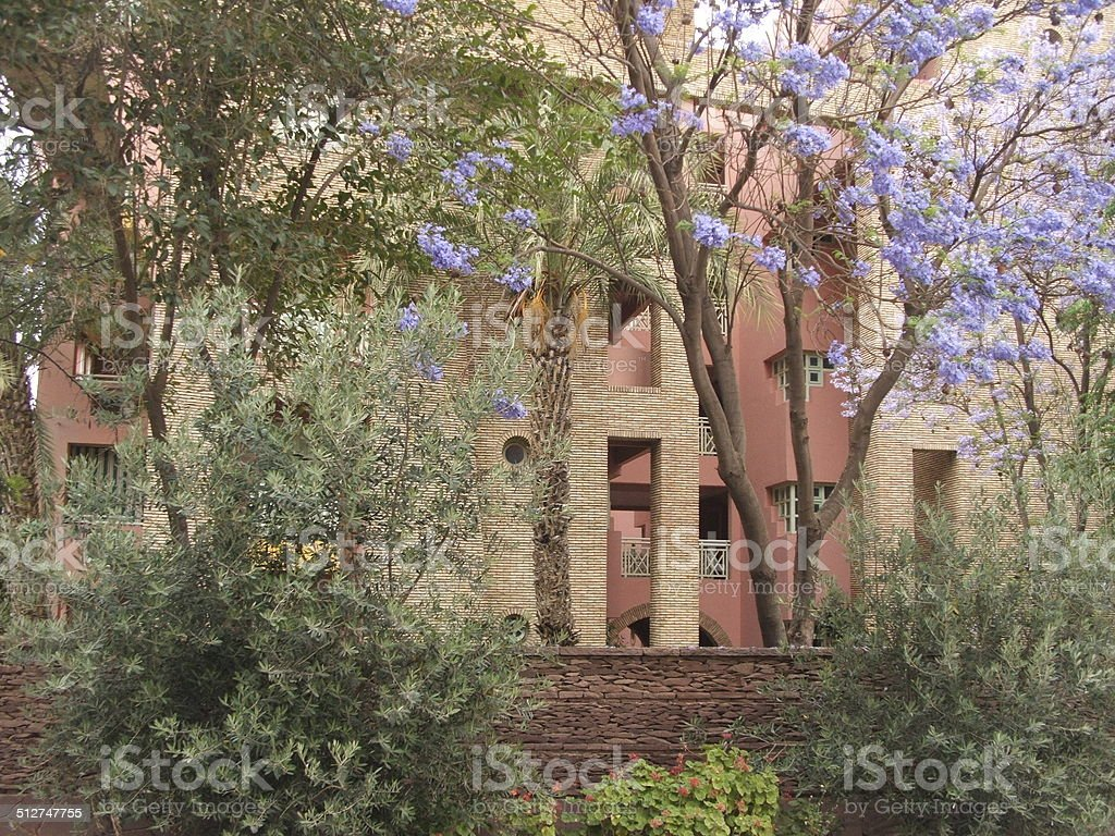 French Quarter's Landscaping in Marrakech stock photo