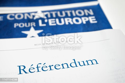 1126684642 istock photo French referendum documents with European Union constitution paper close-up on titles placed on white table 1147114256