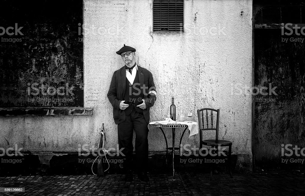 French Resistance Fighter World War Ii Reenactment Stock Photo