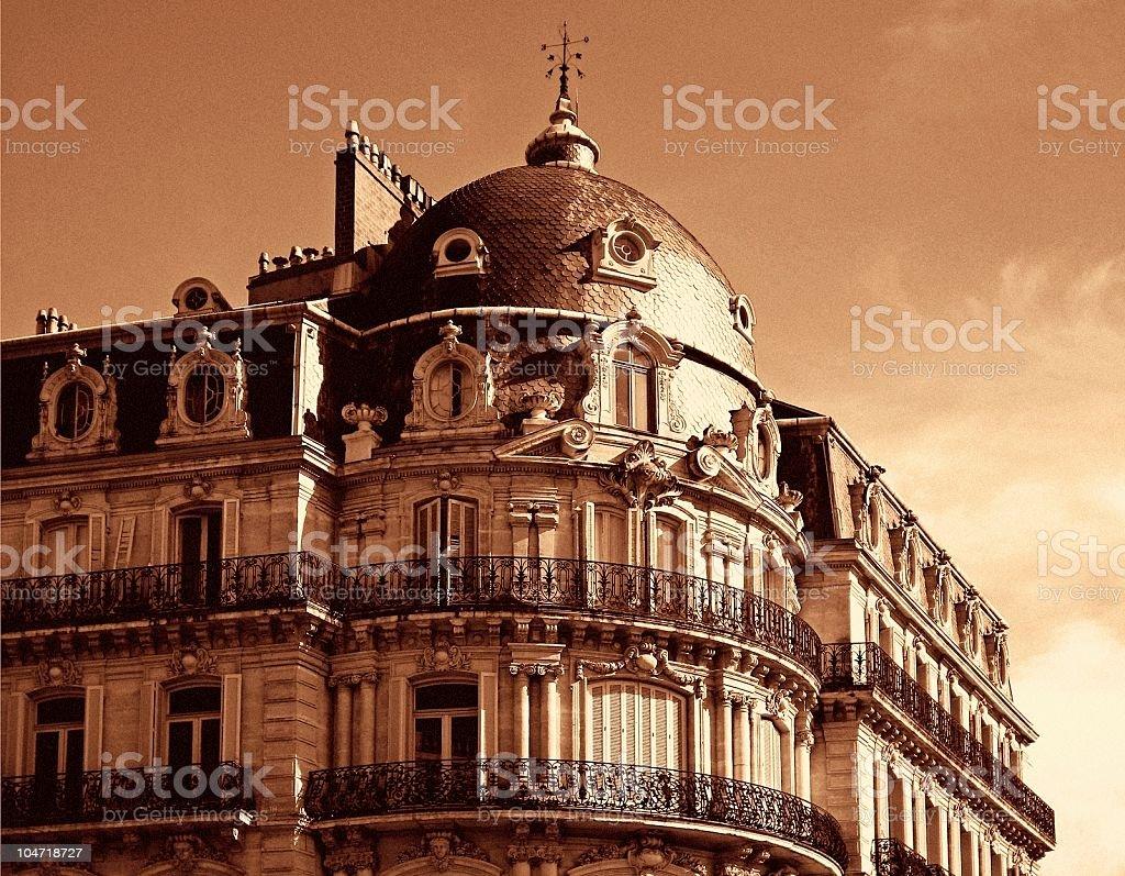 French retro building stock photo