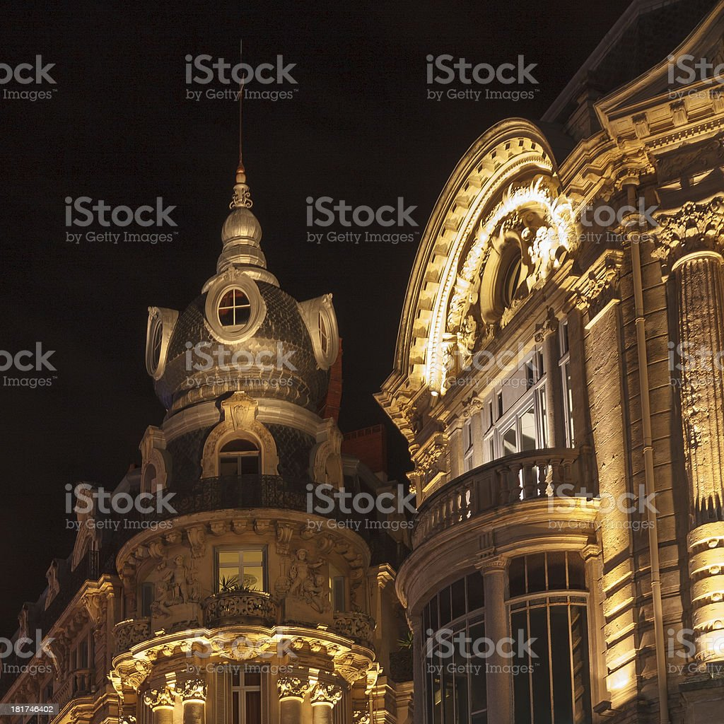 French retro building royalty-free stock photo