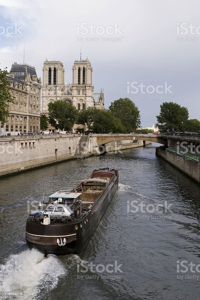 French River Boat royalty-free stock photo