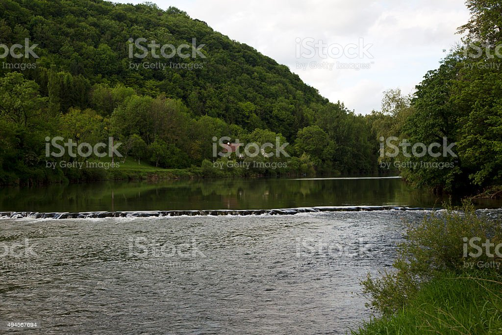 French river Doubs stock photo