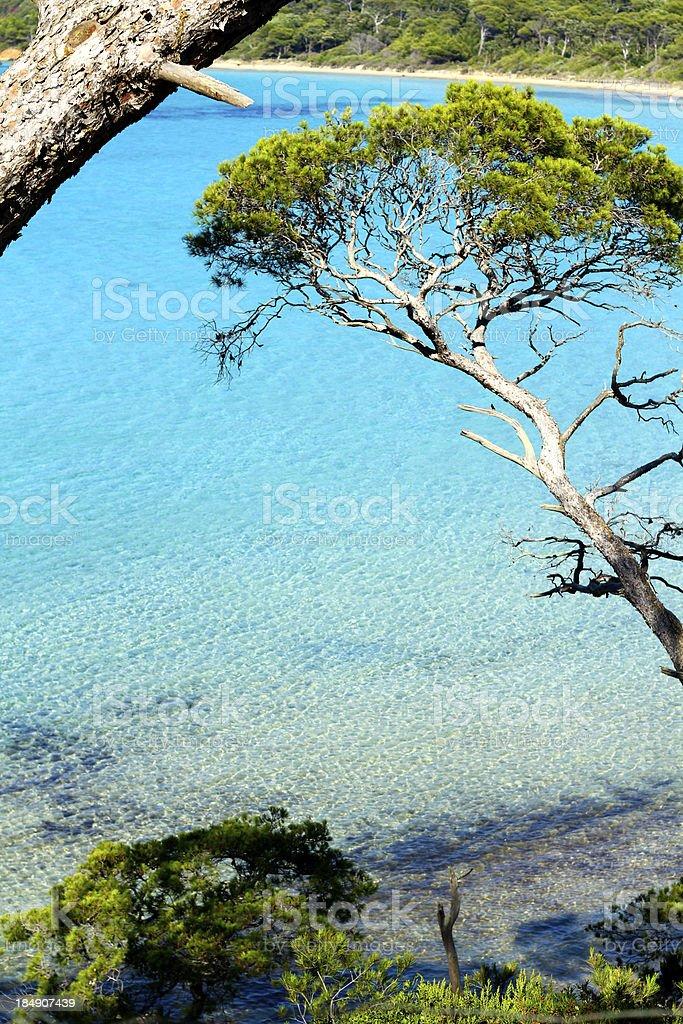 French riviera blue lagoon stock photo