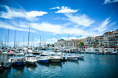 French riviera in Cannes city