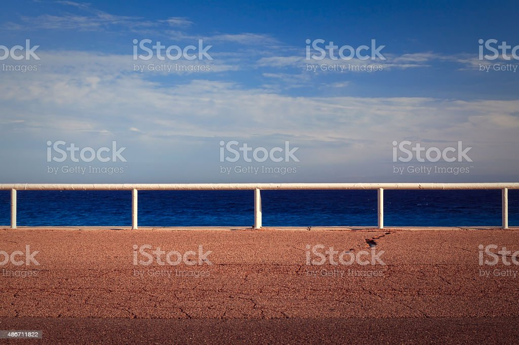French Riviera landscape in Nice city stock photo
