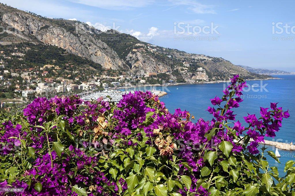 French Riviera near Nice royalty-free stock photo