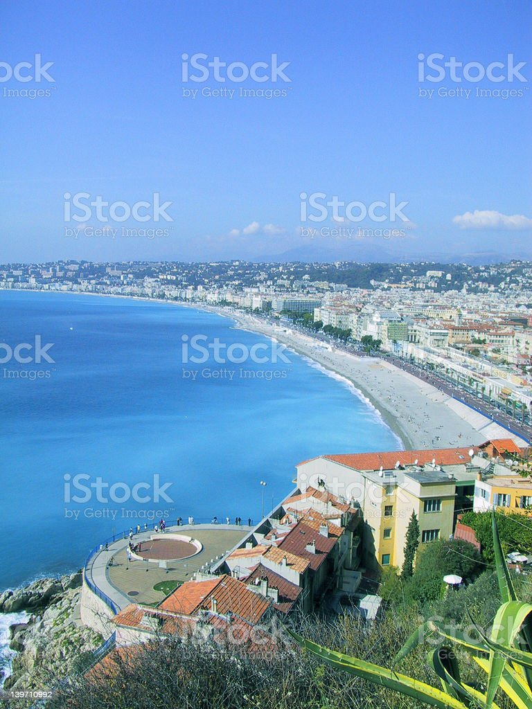 French Riviera, Nice. stock photo