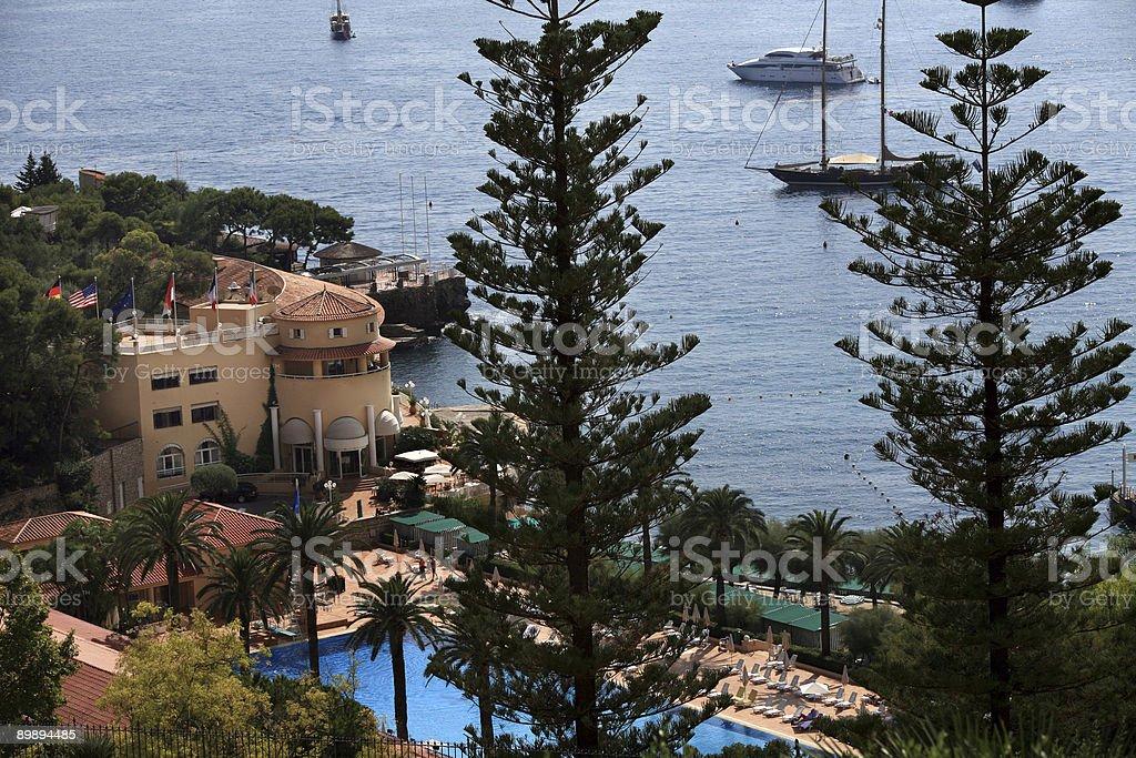 French Riviera Resort Hotel royalty-free stock photo