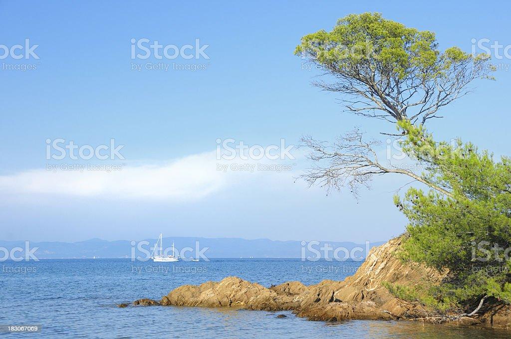 French Riviera seascape stock photo