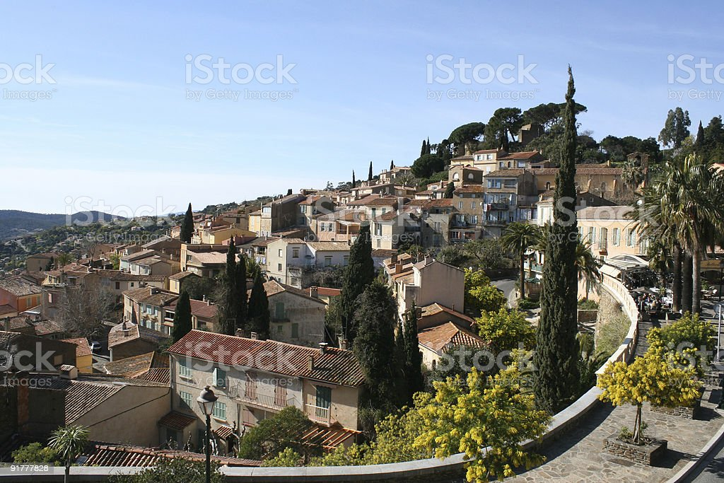 French riviera village royalty-free stock photo