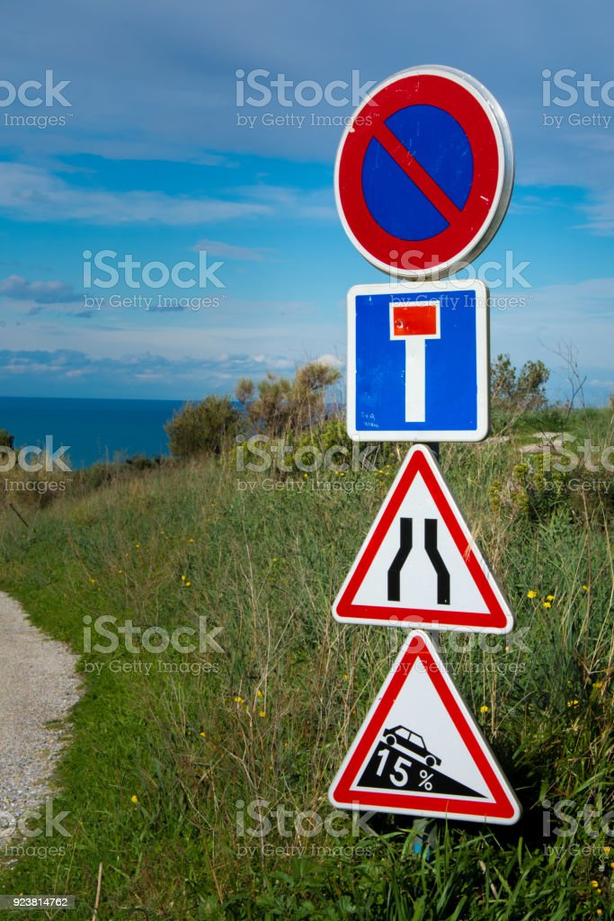 French Road Signs Stock Photo Download Image Now Istock