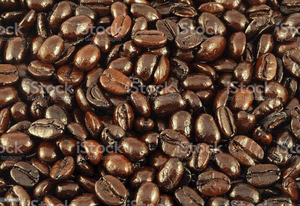 French roasted coffee beans royalty free stockfoto