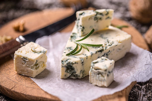 French Roquefort cheese stock photo