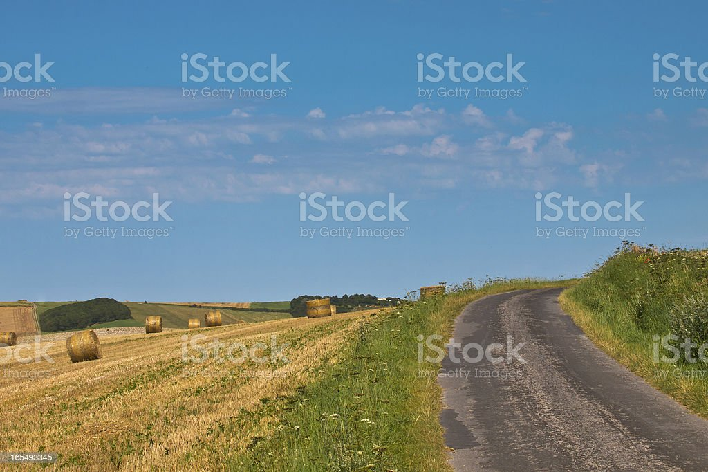 French Rural Country Road royalty-free stock photo