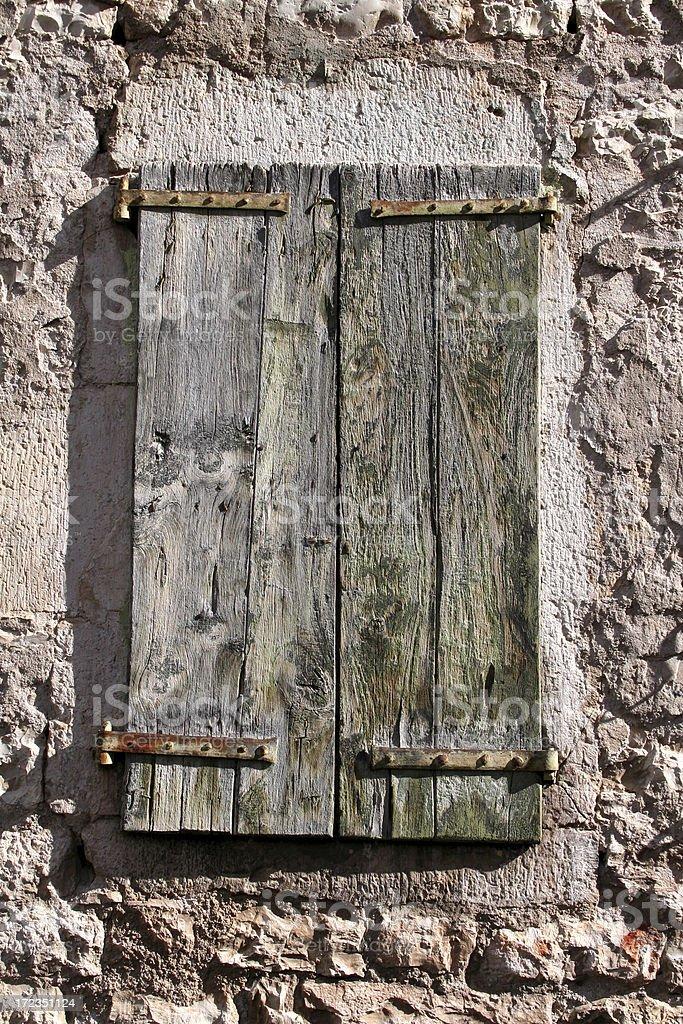 French Rusty Window royalty-free stock photo