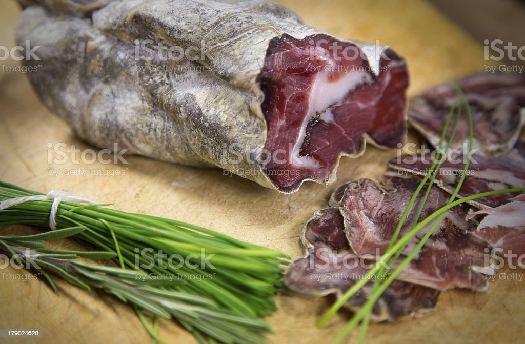 French sausage royalty-free stock photo