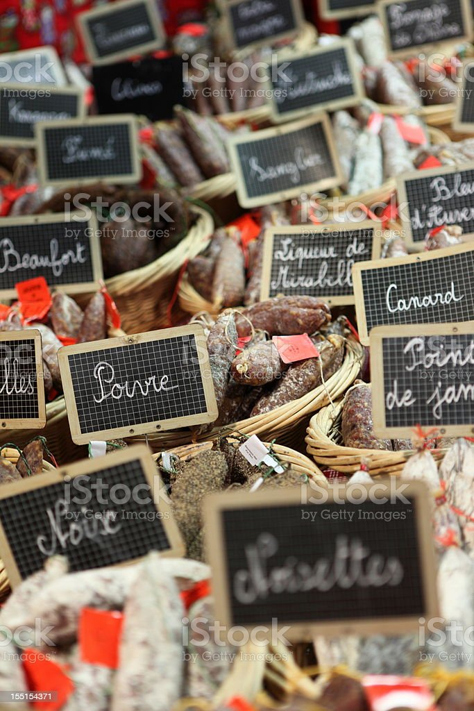 French sausages royalty-free stock photo