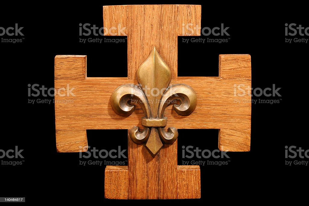 French Scout Emblem stock photo