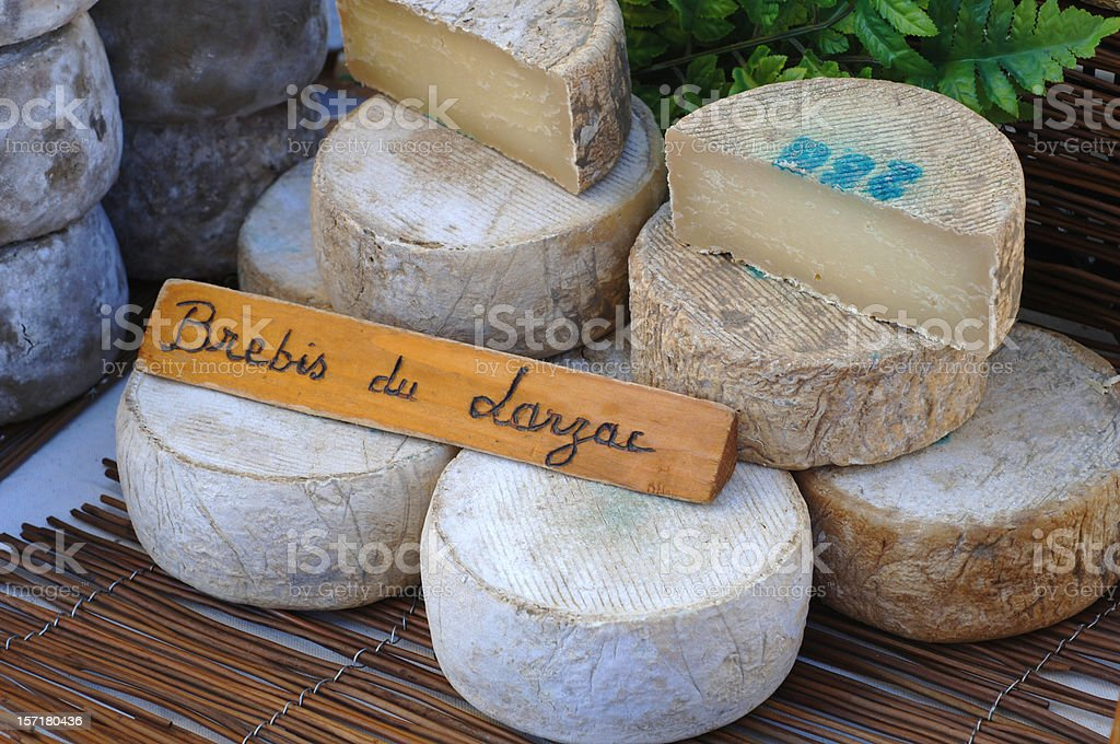french sheep-cheese royalty-free stock photo