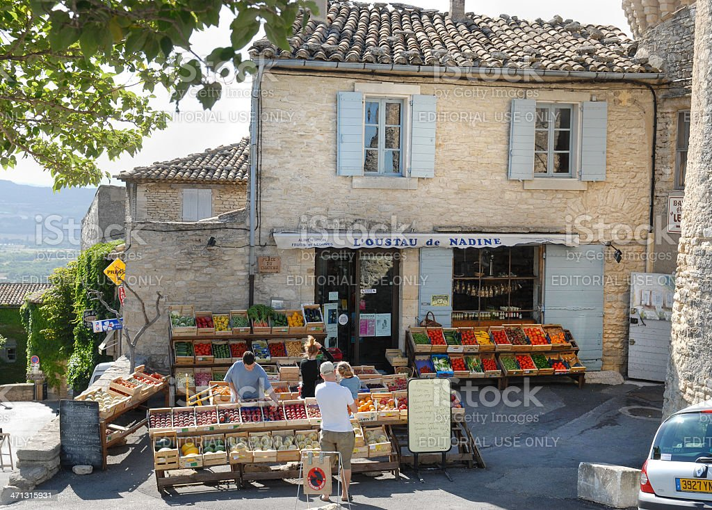 French Shop stock photo