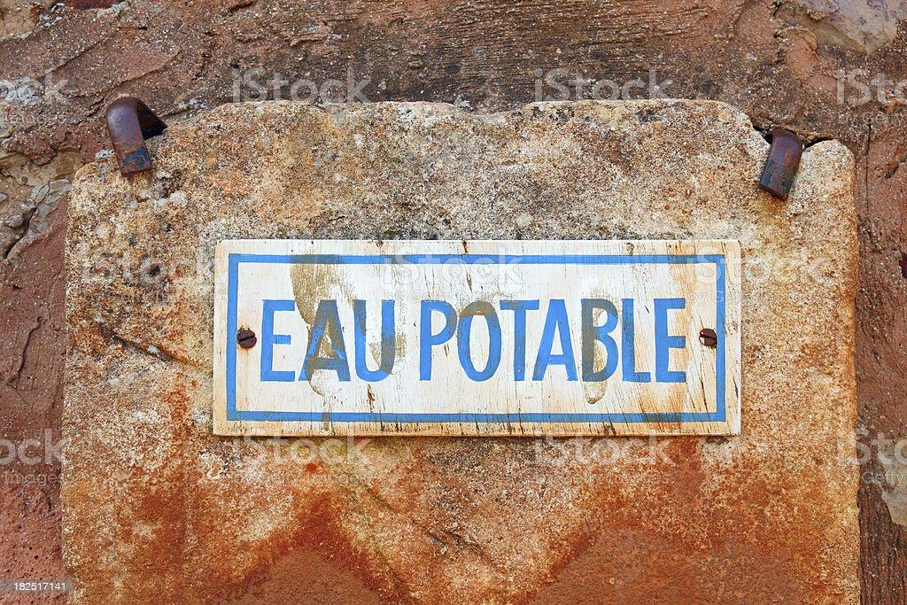 French sign: Eau Potable royalty-free stock photo