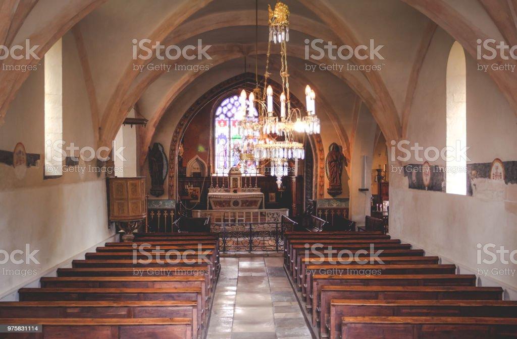 kleine Kirche Französisch - Lizenzfrei Alt Stock-Foto